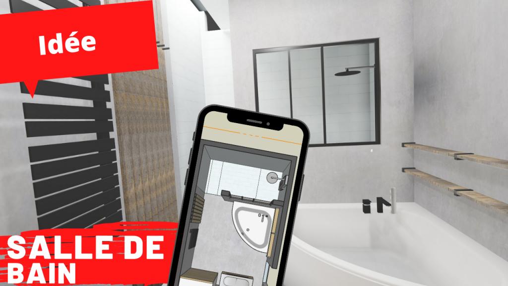 salle de bain 8m2 avec baignoire et douche