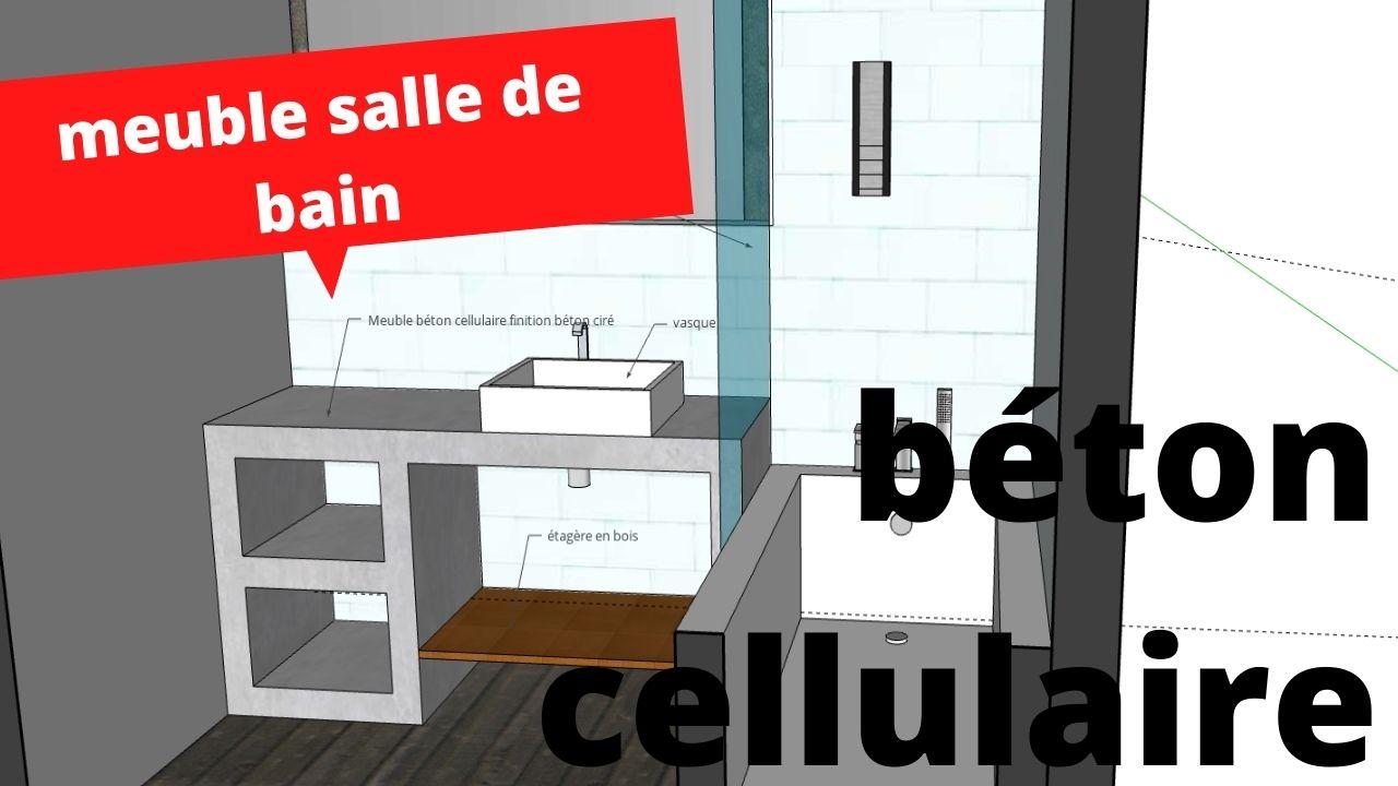 meuble salle de bain beton cellulaire