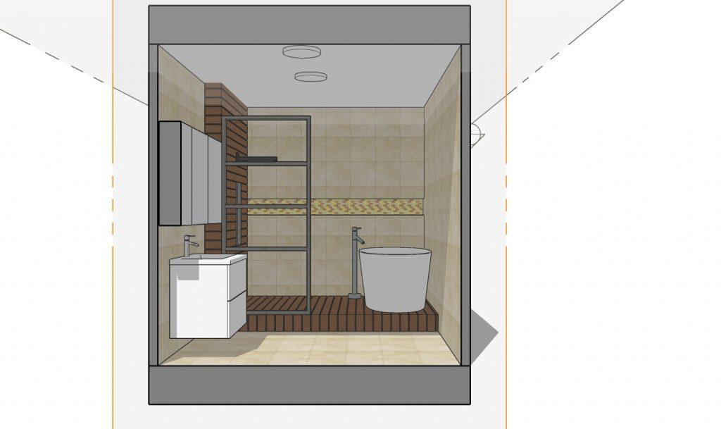 salle de bain zen 8m2