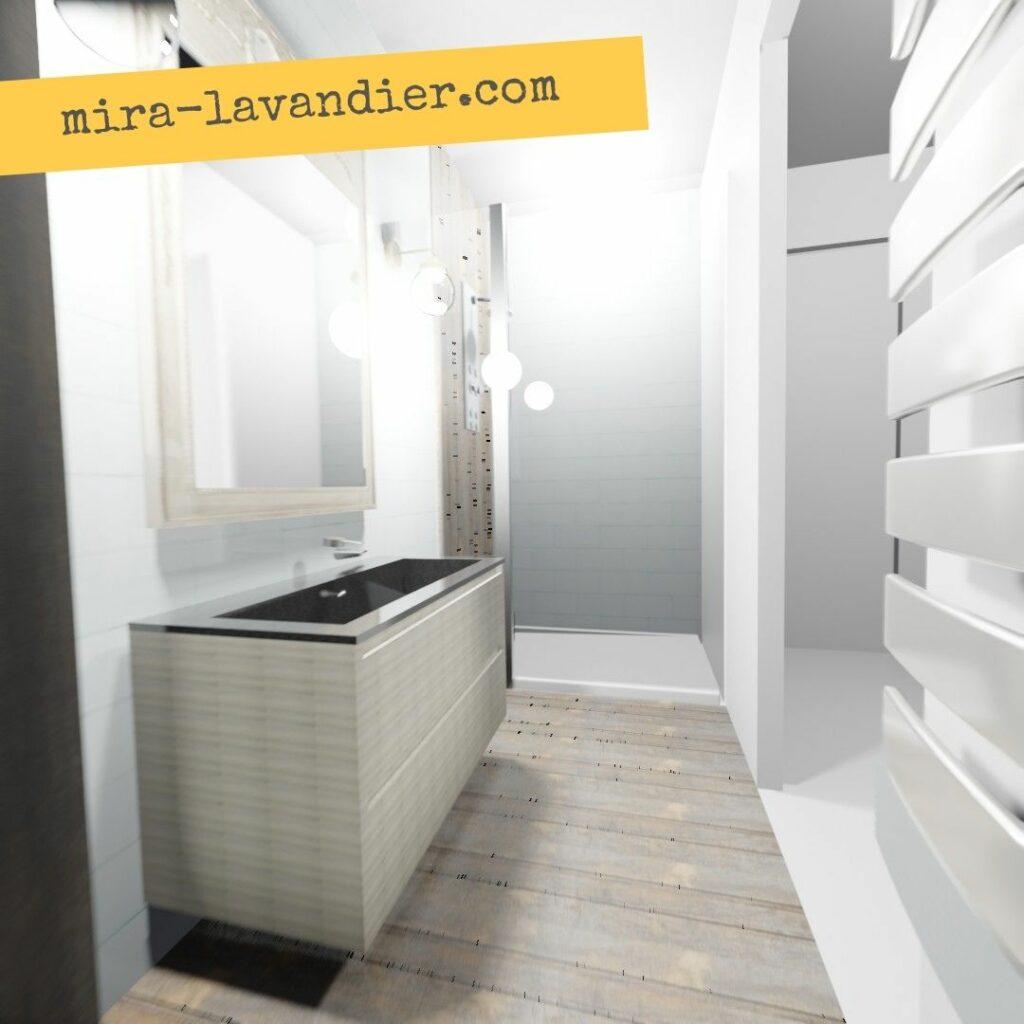 salle de bain 4m2 3D