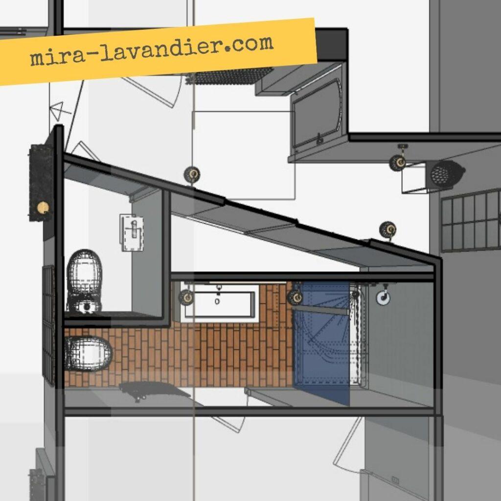 petite salle de bain plan 4m2