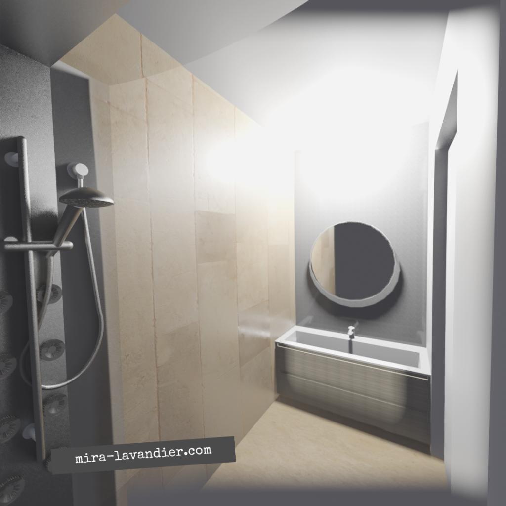 salle de douche 3m2