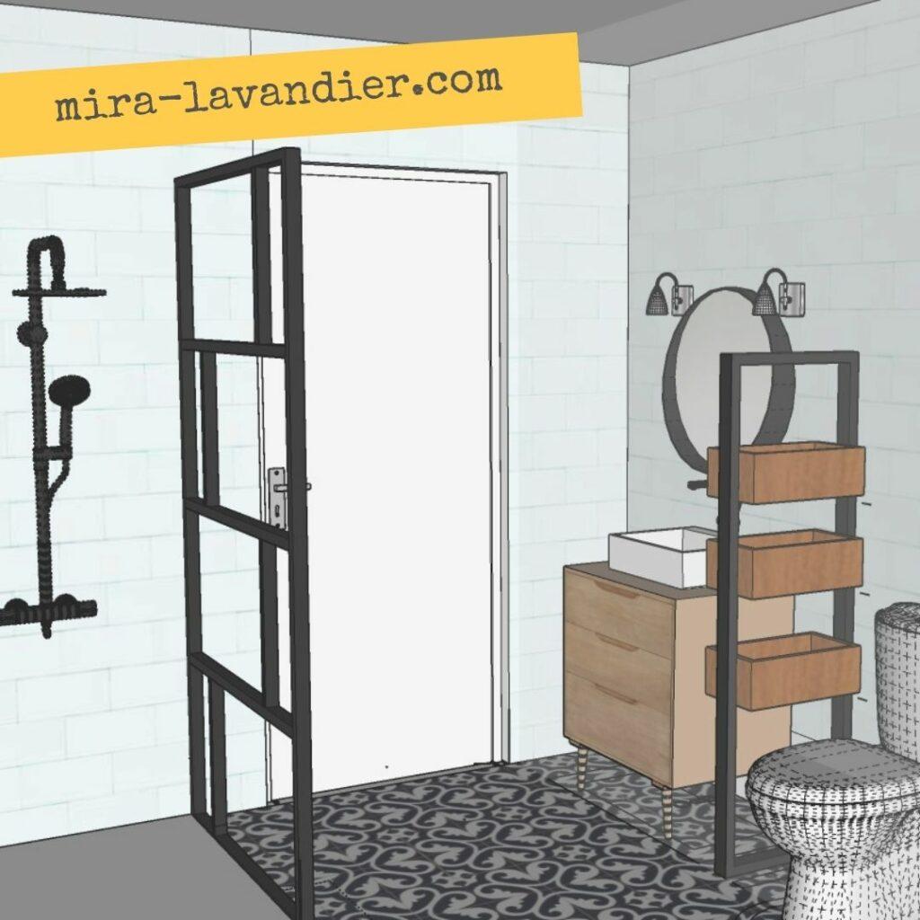 projet 3D salle de bai 5m2
