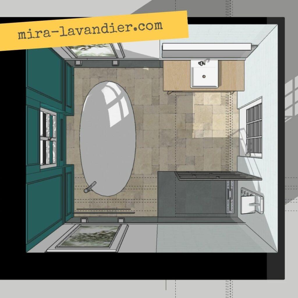 plan salle de bain 72