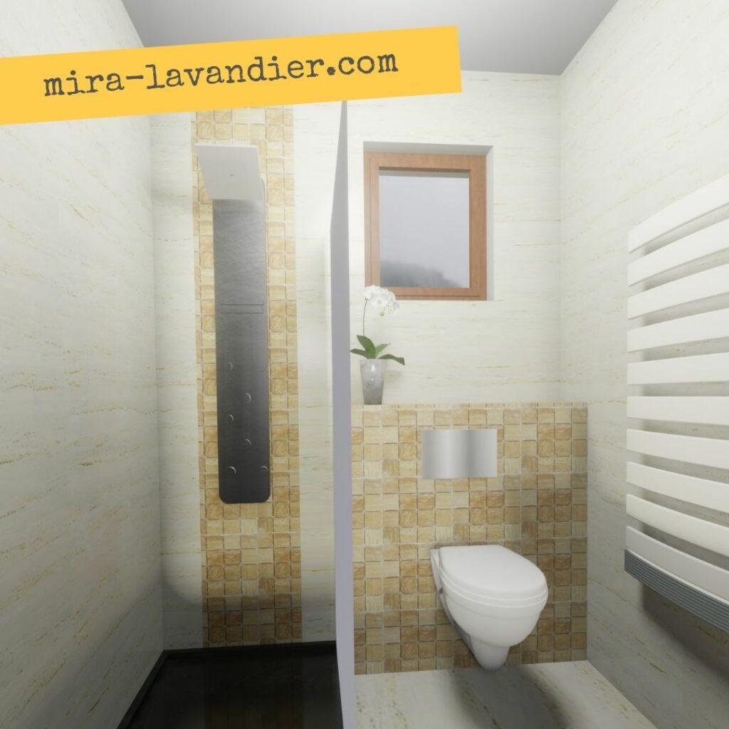 """modèle salle de bain 3m2 """"n 3D"""